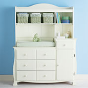 Savanna Bella Changing Table or Hutch - Off White