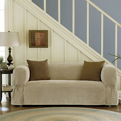 Maytex Smart Cover® Stretch Suede 1-pc. Loveseat Slipcover