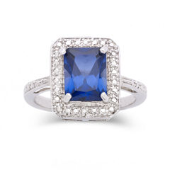 Lab-Created Sapphire & Diamond-Accent Ring