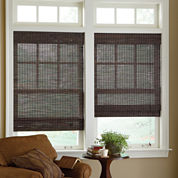 jcp home™ Custom Woven Wood Bamboo Roman Shade