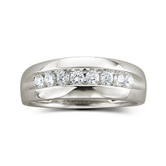 Mens 1/2 CT. T.W. Diamond Band 10K White Gold