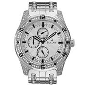 Bulova® Mens Crystal-Accent Watch 96C106