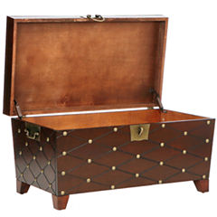 Nailhead Coffee Table Trunk