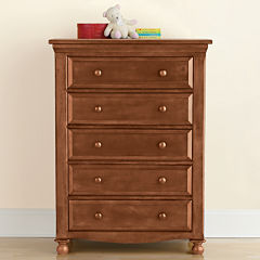 Bedford Baby Monterey 5-Drawer Dresser - Butternut