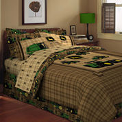John Deere® Tractor and Plaid Pillow Sham