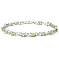 Genuine Peridot & Diamond-Accent Bracelet