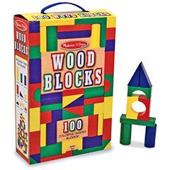Melissa & Doug 100-pc. Wood Blocks Set