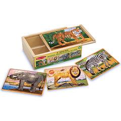 Melissa & Doug® Wild Animals Puzzle in a Box