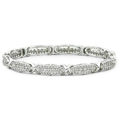 3 CT. T.W. Diamond Tennis Bracelet 10K Gold