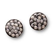 Silver Treasures Crystal Stud Earrings