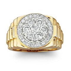 Men's Diamond Cluster Ring 2 CT. T.W. 10K Gold