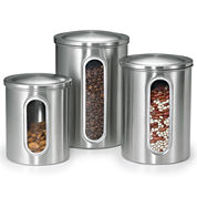 Polder® 3-pc. Stainless Steel Window Canisters