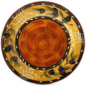 Certified International French Olive Set of 4 Dinner Plates