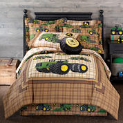 John Deere® Tractor and Plaid Comforter & Accessories