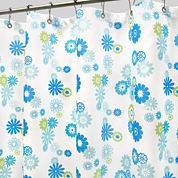 Park B. Smith® Star Burst Floral Azure Fabric Shower Curtain