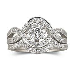 Cherished Hearts™ 1/2 CT. T.W. Certified Diamond Bridal Set