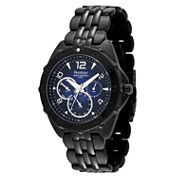 Armitron® Mens Black Stainless Steel Watch