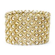 Bold Elements™ Gold-Tone Ball Stretch Bracelet