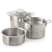 Simply Calphalon® 3-pc. 8-qt. Stainless Steel Multi Pot Set
