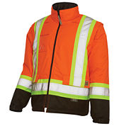 Work King High Visibility Lined 5-in-1 Jacket