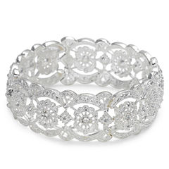 Vieste® Crystal Lace-Look Stretch Bracelet