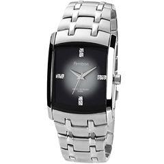 Armitron® Mens Degrade Gray Rectangular Watch