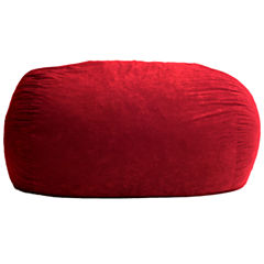 6' Extra Large Suede Fuf Beanbag Chair