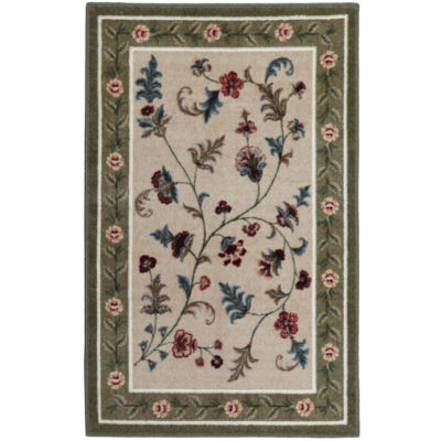 Wonderful Flower Patch Washable Rectangular Rug