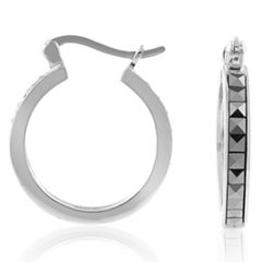 Sterling Silver Marcasite Small Hoop Earrings