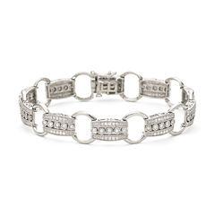 1 CT. T.W. Diamond Sterling Silver Bracelet