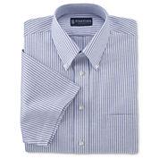 Stafford® Travel Short-Sleeve Wrinkle-Free Oxford Shirt–Big & Tall