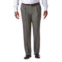Haggar Cool 18 Pro Pleated Front Pant- Big & Tall