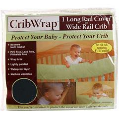 Trend Lab® CribWrap® Black Fleece Rail Cover