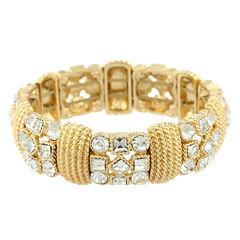 Monet® Crystal and Gold-Tone Stretch Bracelet