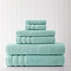 Pacific Coast Textiles Kiev Jacquard 6-pc. Bath Towel Set