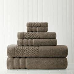 Pacific Coast Textiles Trellis Jacquard  6-pc. Bath Towel Set