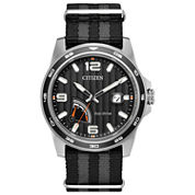 Citizen Mens Black Strap Watch-Aw7030-06e