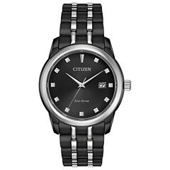 Citizen Mens Black Bracelet Watch-Bm7348-53e