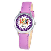 Disney Princess Girls Purple Time Teacher Watch-W000079