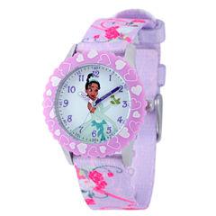 Disney Princess & The Frog Girls Purple Strap Watch-W001925