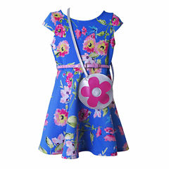 Lilt Short Sleeve Cap Sleeve Skater Dress - Preschool Girls