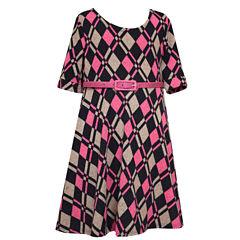 Bonnie Jean 3/4 Sleeve A-Line Dress - Big Kid Girls