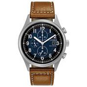 Citizen Mens Brown Strap Watch-Ca0621-05l
