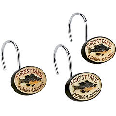Avanti Rather Be Fishing Shower Curtain Hooks