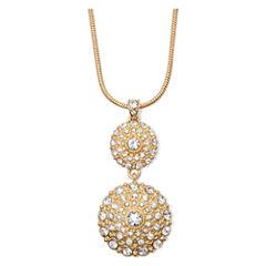 Liz Claiborne® Crystal Gold-Tone Pendant Necklace