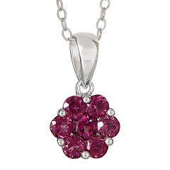 LIMITED QUANTITIES  Genuine Pink Tourmaline Flower Pendant Necklace
