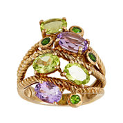 LIMITED QUANTITIES  Genuine Amethyst and Peridot Ring