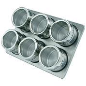 Mastrad® Magnetic Stainless Steel 6-pc. Spice Jar Set