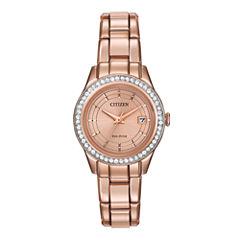 Citizen® Eco-Drive® Silhouette Womens Crystal-Accent Bracelet Watch FE1123-51Q