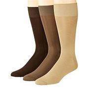 Stafford® 3-pk. Nylon Microfiber Crew Socks–Big & Tall